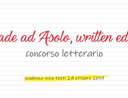 """I testi dei vincitori di """"Accade ad Asolo, written edition"""""""